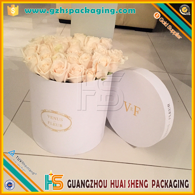 Wholesale Luxury Paper Cardboard Tube Gift Packaging Flowers Ribbons Packaging Round Hat Box For Flowers