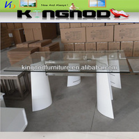 glass top bent wood Dining Table DT-N03