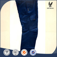 mens blue work trouser with multi tool pocket cargo pants with knee pad