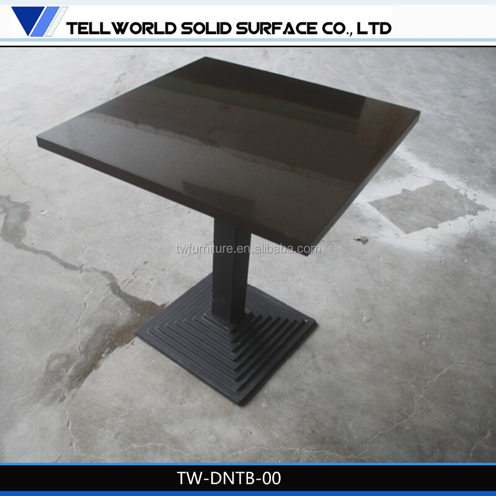 granite top dining tables for solid surface restaurant furniture cafe