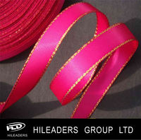 DS808 Wholesale Polyester Satin Ribbon With Metallic Edge