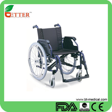Aluminum manual lightweight handicapped wheelchair
