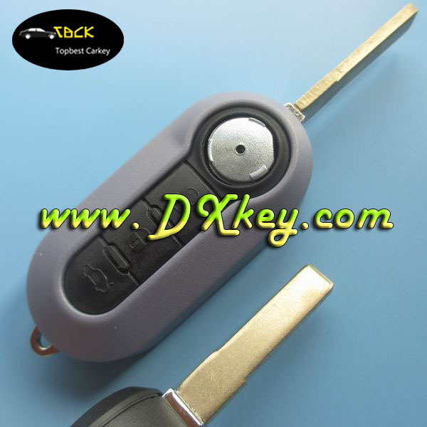 Best selling smart key cover with 3 button SIP22 folding blade for fiat car key fiat key cover