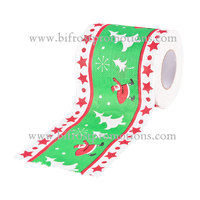 Embossed Christmas Print Toilet Paper Towels