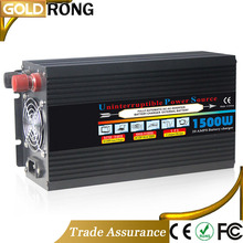 Manufacturer Modified Sine Wave DC To AC 1500W UPS Solar Power 12v 220v Inverter With Battery Charger