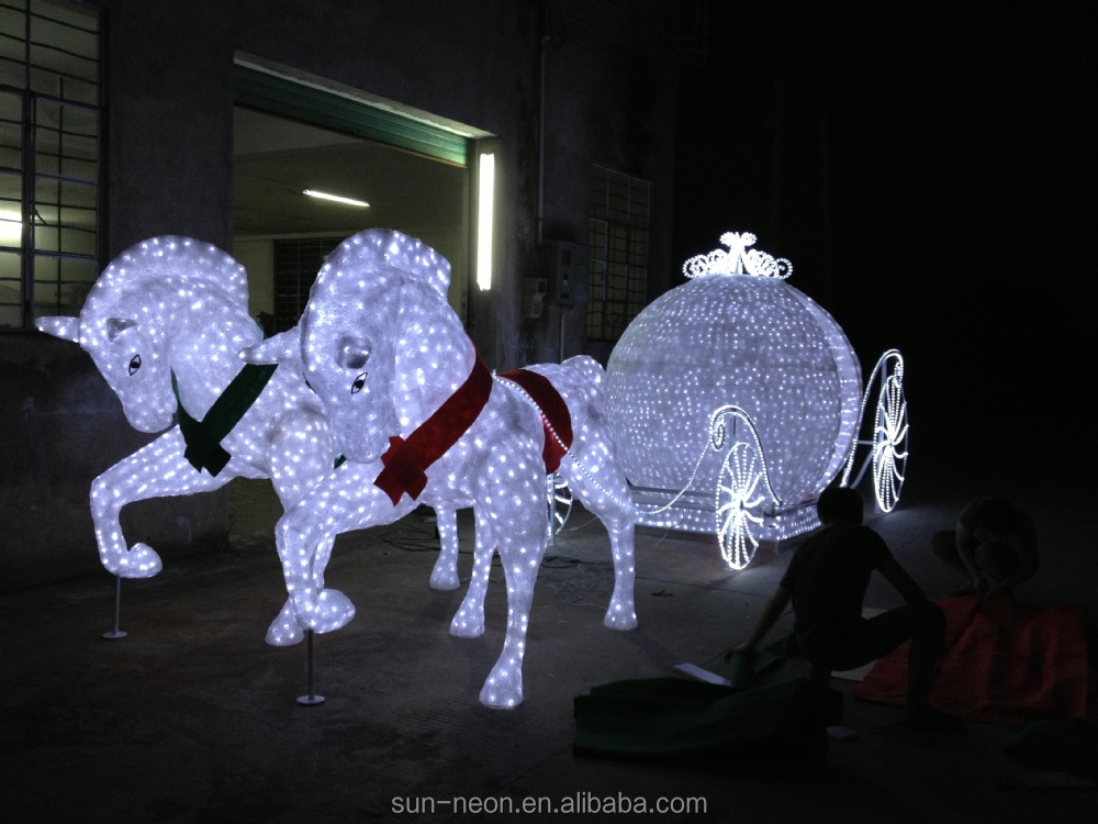Outdoor Christmas Decorations Horse Carriage : Outdoor christmas decoration horse carriage buy