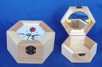 Wooden jewelry box princess jewelry box necklace jewelry ring box