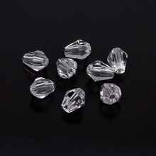 hot Top A Grade Quality 5*6mm 6*8mm clear Faceted Teardrop Crystal Glass Quartz Drop Beads treasure
