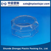 Large supply 80ml octagon PS plastic box,80ml octagon plastic nut container