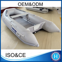 Small fishing inflatable boat aluminum floor 10 ft boats with fishing rod holder