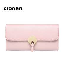 2017 New Hot Fashion Cowhide Genuine Leather Clutches Wallet Bag Promotion