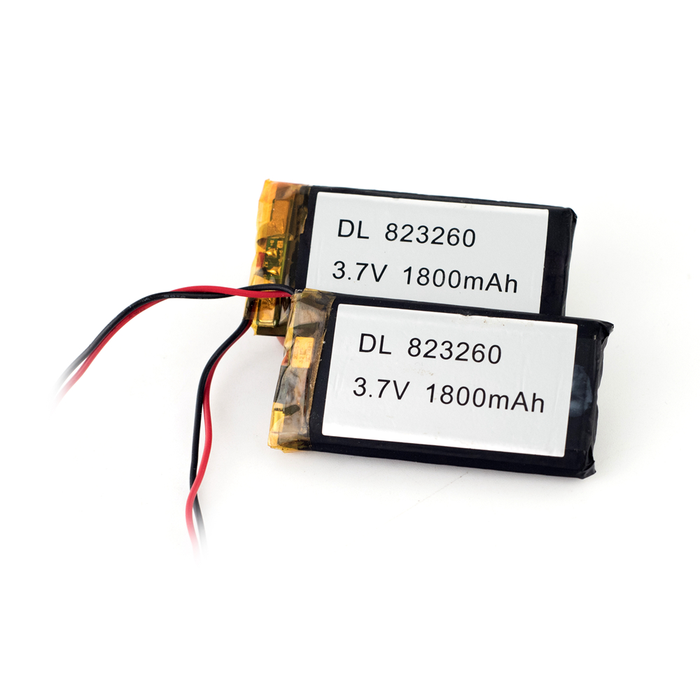 CE/UL approval Rechargeable 3.7V 1800mAh lithium polymer battery for bluetooth headset
