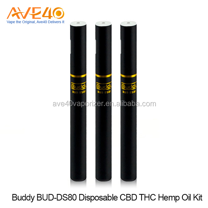 disposable thc oil cartomizer Buddy BUD-DS80 disposable CBD THC hemp oil kit vape pen