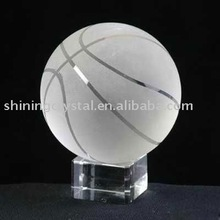 pretty crystal ball trophy for basketball