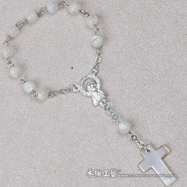 Beautiful Mother of pearl Decade Rosary