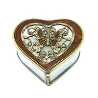 HX-7336 Newest Design Heart Shape Handcraft Cheap Wholesale Trinket Box from india