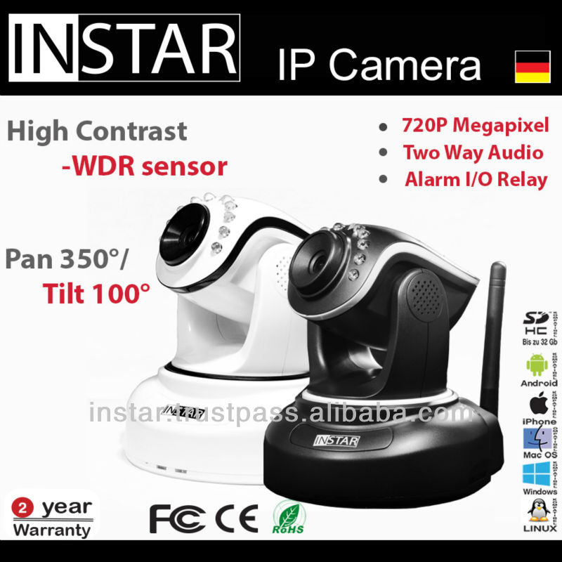 INSTAR IN-6012HD Nightvision, Motion Detection, 720p