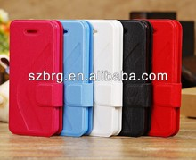 New Arrival Magnetic Stand PU Leather Case for iphone 5c mobile phone