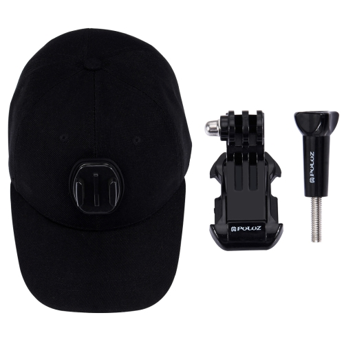 PULUZ Baseball Hat with J-Hook Buckle Mount & Screw for GoPro HERO5 Session for fujifilm instax mini 8 film