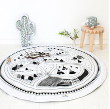 Baby Blanket Cotton Play Mats Soft Baby Games Carpet Newborn Print Infantil Bedding Toy Kids Gift Cartoon Baby Blanket Mat 90cm