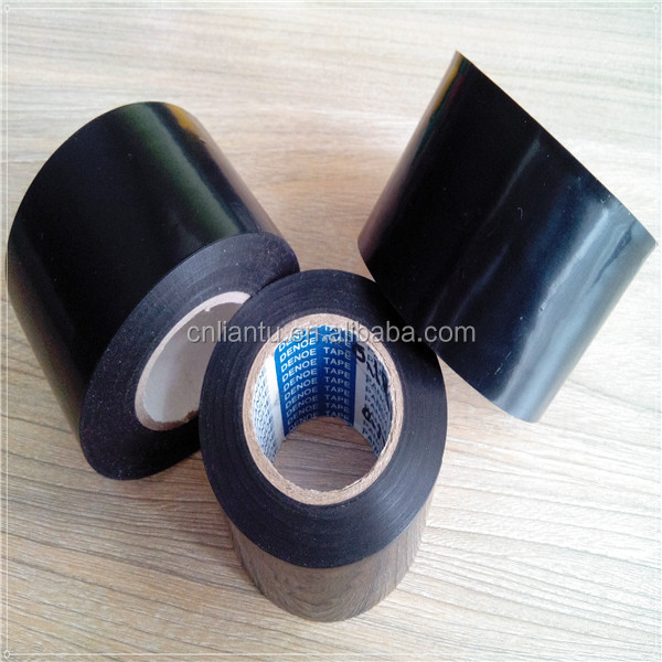 outer wrapping black pvc pipe protecting tape from liantu factory