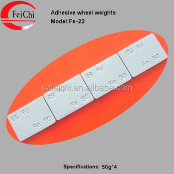 Fe adhesive wheel balance weights with wider tape