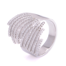 wholesale no moq crystal wedding anniversary gifts finger ring jewelery