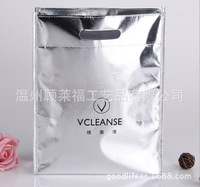Trendy nonwoven lauminated silver aluminum film cloth bag