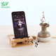 2018 new design hot sale bamboo cell phone sound amplifier with phone holder