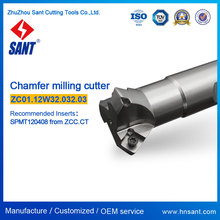 Chamfer tools matched carbide inserts SPMT120408 (Refer to ZCC code CMZ01-032-XP32-SP12-03/Sant code ZC01.12W32.032.03)