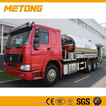 Howo Tall Red Automatic Asphalt Distributor LMT5251GLQ For Sale