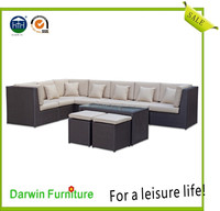 Popular Outdoor Wicker Lounge Rattan Sofa