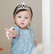 Spring and Summer Children Girls Hair Accessories Baby Hair Band Gold and silver Baby Crown <strong>Headband</strong>