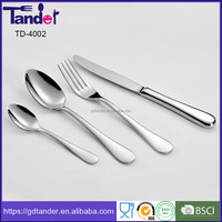 Camping 18/10 stainless steel cutlery factory