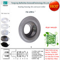 "chinese factory conveyor roller fittings protection caps for pipe 6"" shaft 40mm"