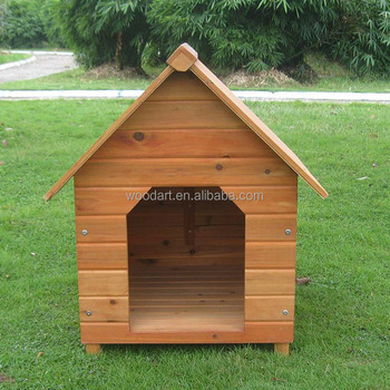 Cheap Wooden Dog Kennel with PVC door flap