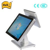 Touch screen order system restaurant with magnetic card reader