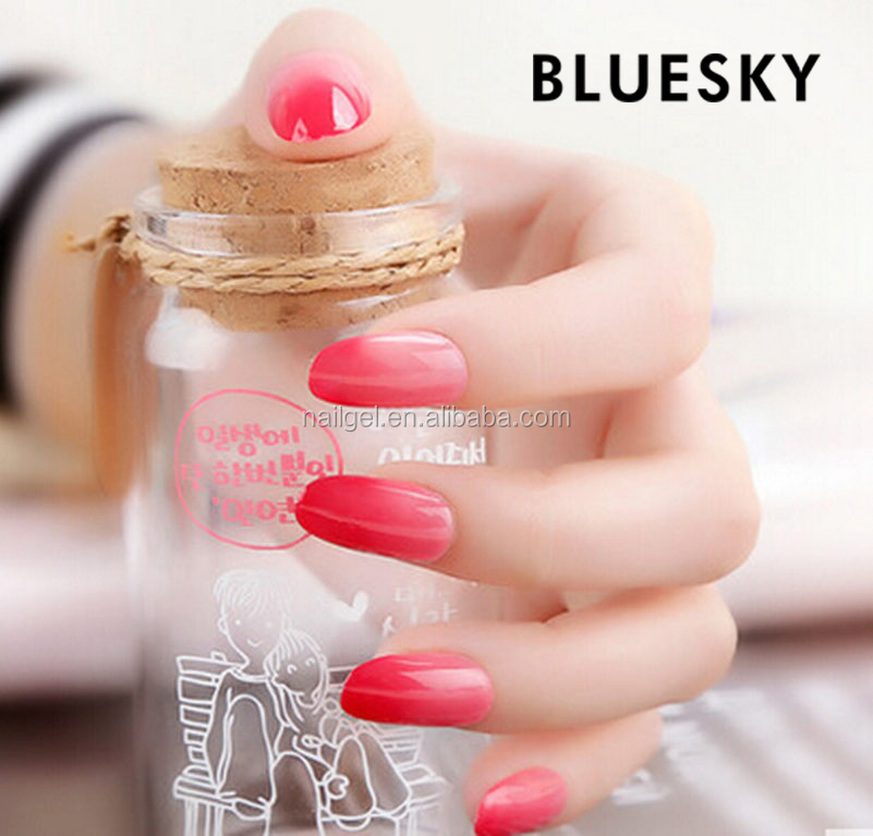 Bluesky free sample color change uv gel polish TC032 lamp nail
