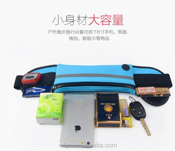 Top quality running sports waistband case waist bag for iphone6,for cell phone