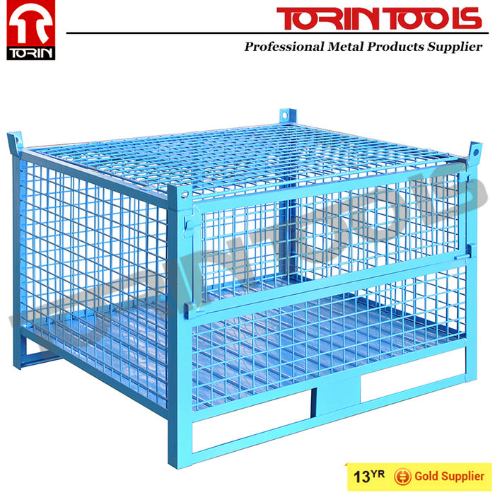 Heavy Duty Powder Industrial Stackable Storage Wire Mesh Containers
