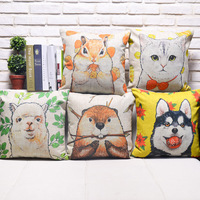 New arrival cartoon animal design linen cushion
