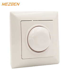 Low price embedded eu style household abs panel oem 220V 10a 12 Years warranty small dimmer switch high quality