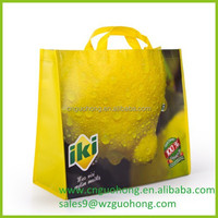 big cross stitching laminated non woven cloth shopping bag