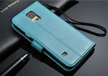 Premium PU Leather Flip Phone Case With Fold Stand for Samsung Galaxy S5