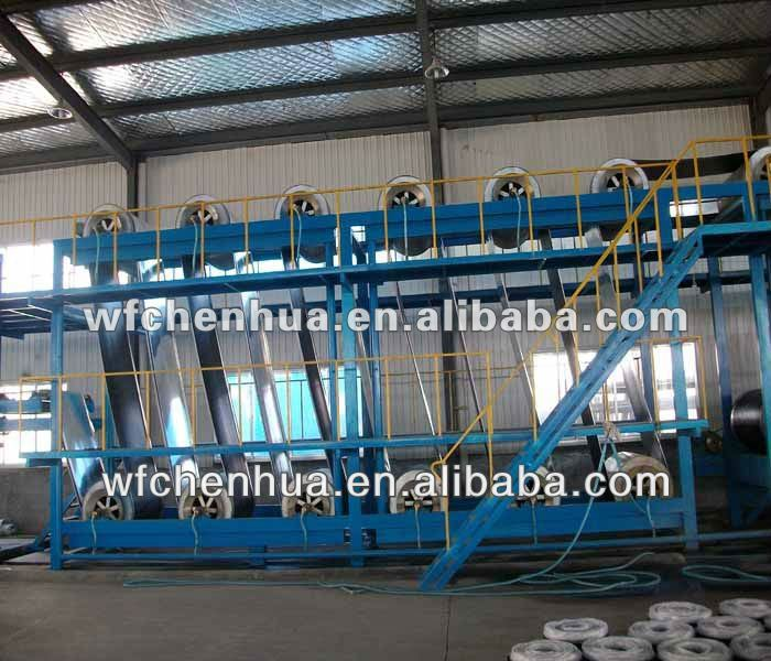 Modified bitumen membrane production line machinery