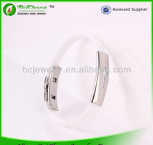 China manufacturer stainless steel bracelet wholesale silicone bracelet sports team bracelet