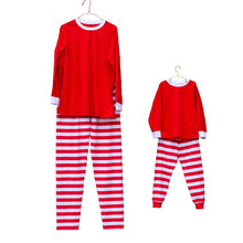 Pre-Order Red with White, Red and Green Stripe Family Christmas Pajamas