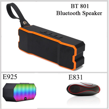 Mini Speaker Blub BT 801 Waterproof Bluetooth Wireless Speaker Portable For Bike Blue