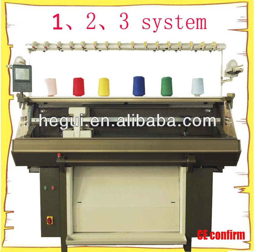 2015 single system jacquard knitting machine, double system, 3 system
