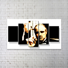 Hot selling high quality black and white abstract art paintings of Godfather